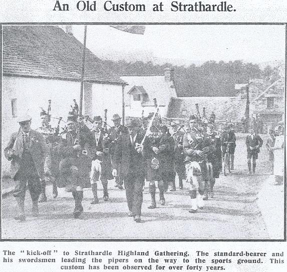 Strathardle Gathering Opening 1925