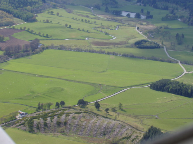 Glen Brerachan from the air. Straloch Loch is at the top of the picture