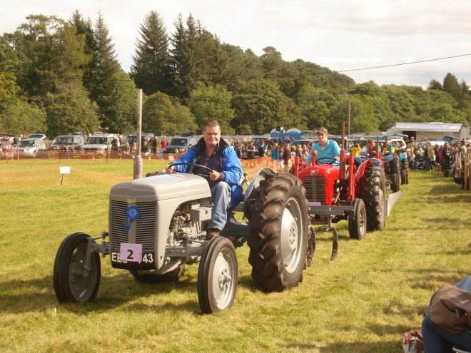 Tractor parade at Strathardle Gathering