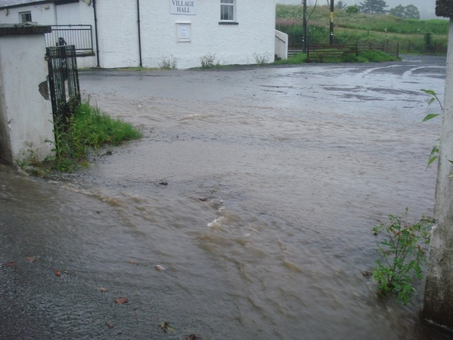 Flooding Bridge of Cally July 2015
