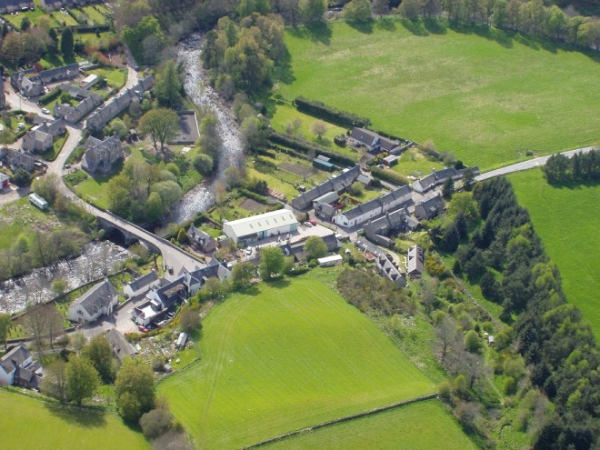Kirkmichael village from the air 2005
