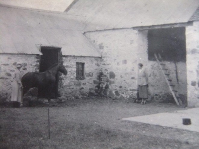 The stables at Balnald, now the garage