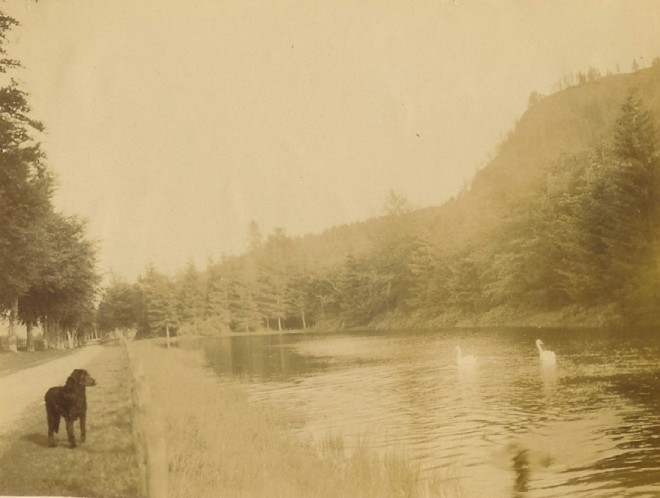 An early picture of West Pond Kindrogan
