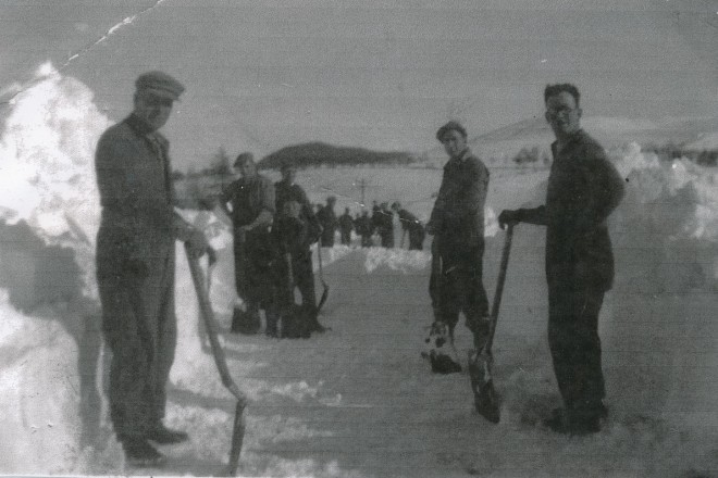 Snow Clearing at the Lair 1947