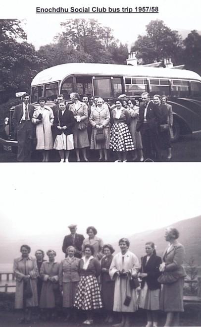 Enochdhu  social  bus trip 1957 (upper) and 1958 (lower)