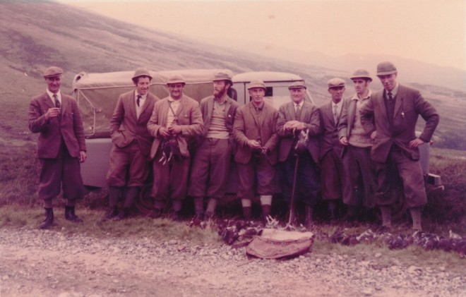 A group out grouse shooting for the day - does anyone know who?