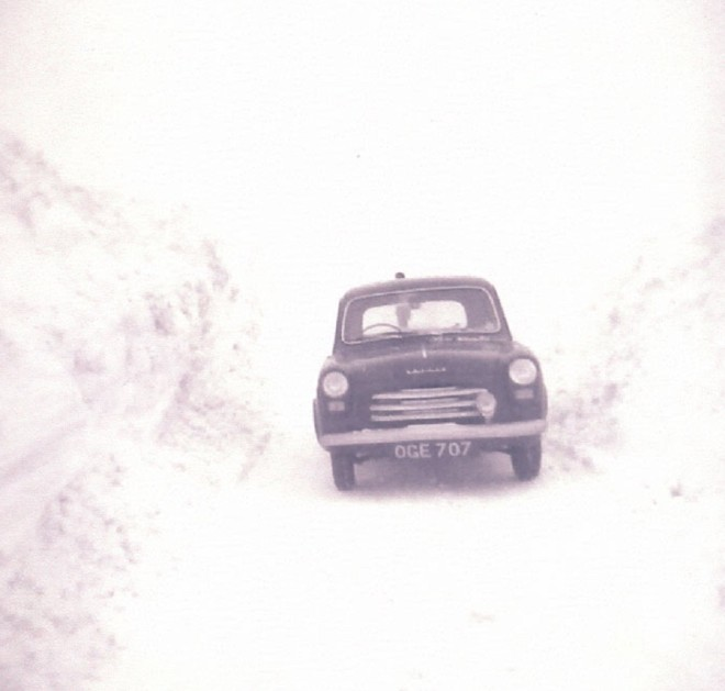 1963 in the snow Moulin Moor