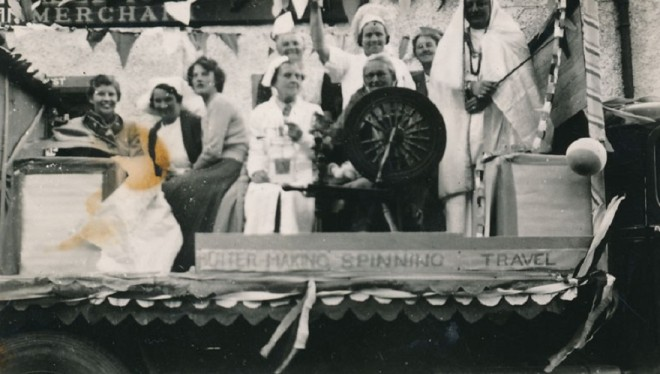 WRI float in coronation celebration 1953