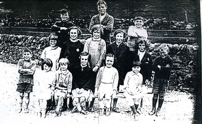 Pupils at Glenshee School 1927