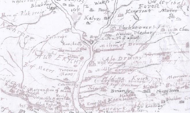 Timothy Pont Map 1595