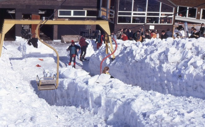 Chairlift at Glenshee March 1968