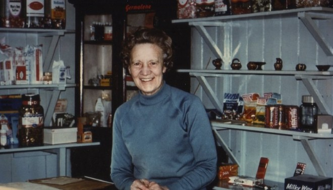 Sarah Munro, who ran the Post Office at Blacklunans (now closed)