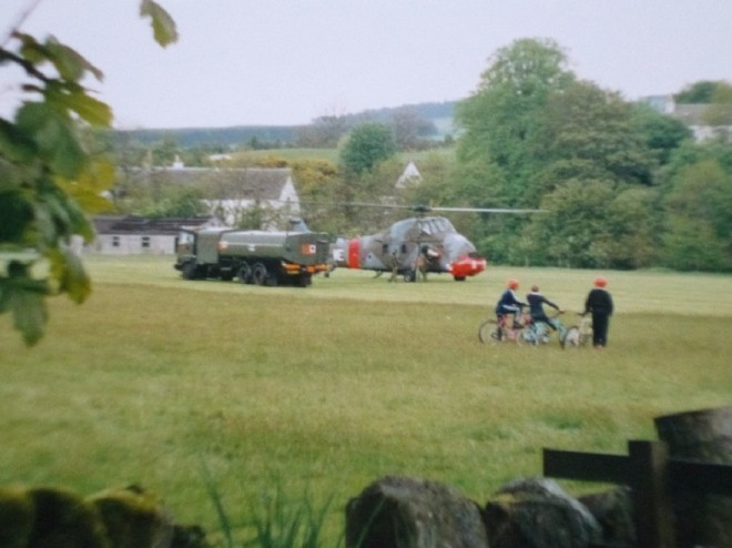 Helicopters refueling on the Bannerfield