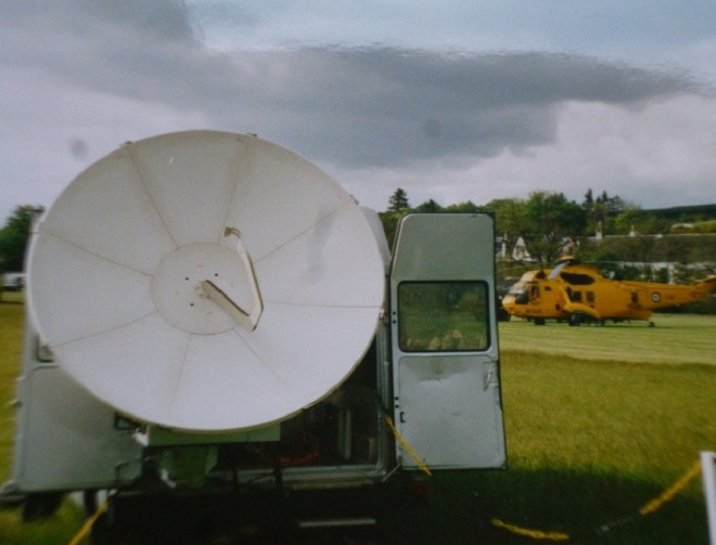 Satellite links set up by the media