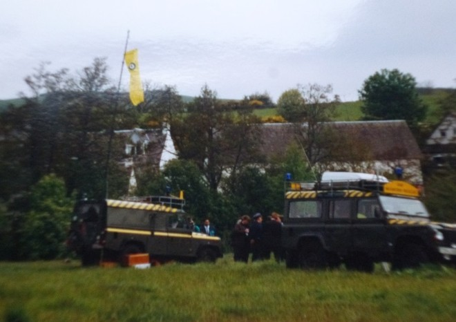 RAF Mountain Rescue vehicles on the Bannerfiled