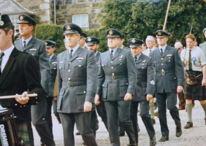 The commemorative march by RAF Lyneham personnel  at the opening of the Strathardle Gathering