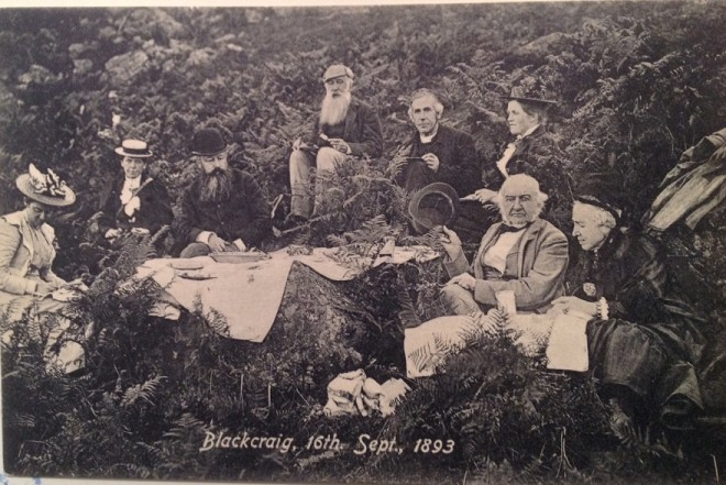 Prime Minister William Gladstone at Blackcraig.
