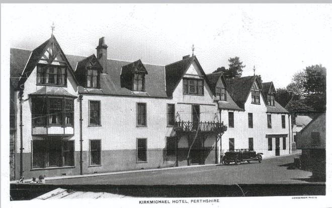 KIrkmichael Hotel with Rolls Royce outside.