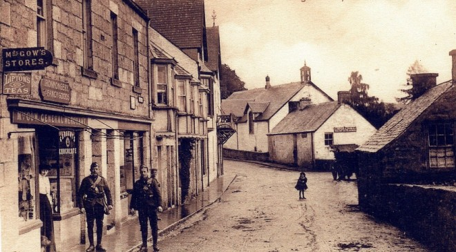 Kirkmichael, note the uniforms, but from which war?