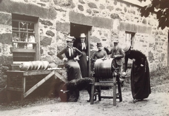 Butter making at Balmyle