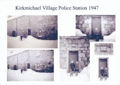 Outside Kirkmichael Police Station