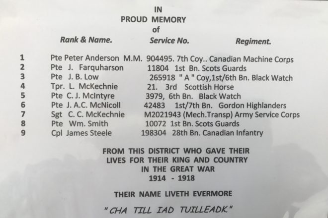WW1 James Brown Low