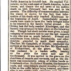 William Augustus Keir obituary age 36