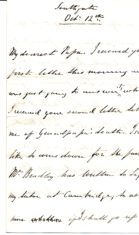 William Keir's letter 7 to his father Patrick Keir 12th October 1860