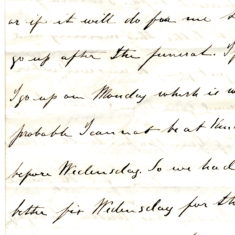 William Keir's letter 7 to his father Patrick Keir 12th October 1860 page2