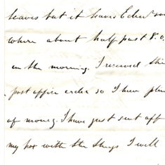 William Keir's letter 7 to his father Patrick Keir 12th October 1860 page3
