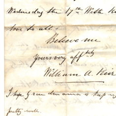 William Keir's letter 7 to his father Patrick Keir 12th October 1860 page4