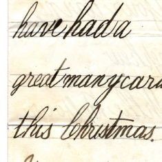 Christmas Thank You Letter from his nephew Willy Balfour 1st January 1878 page3
