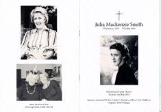 Julia Mackenzie Smith      29 January 1931 - 15 May 2016