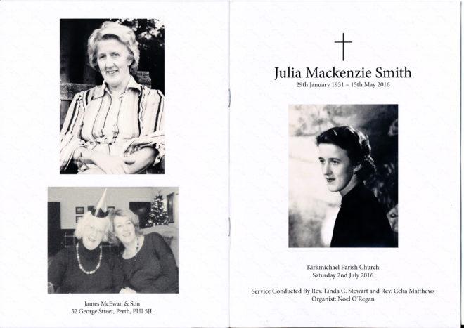Julia's Memorial Service