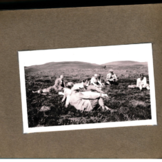 A rest in the heather on the Balvarran shoot 1937