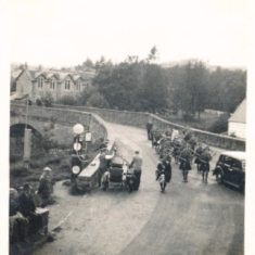 Kirkmichael band going to the games in 1937