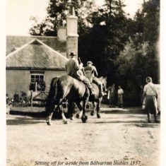 Off for a ride from Balvarran 1937