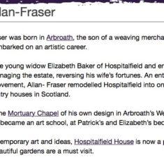 Patrick Allan Fraser Information