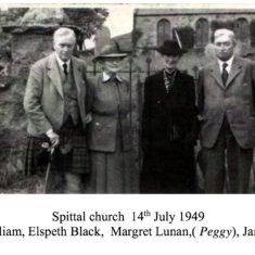 William Shaw Elsbeth Black Margaret Lunan Peggy James July 1949