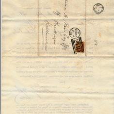 Envelope of letter for jury service july 1878 for William Keir