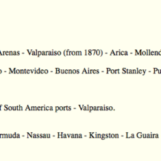 Ligura ports of call From Liverpool to Valparaiso William & Walter embarked on 16 October 1878