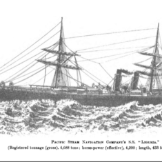 The Liguria Steam Ship which took William & Walter  to Chile
